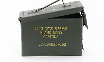 $39.66 • Buy U.S. Military Surplus Waterproof M2A1 .50 Caliber Solid Steel Ammo Can USA MADE
