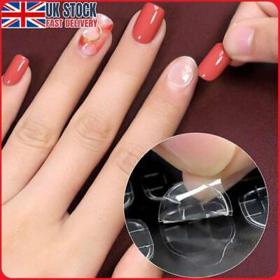 UK 5 Sheets Clear Double-Sided Nail Glue Tape Sticker Adhesive Nail Tabs Press • 4.73£