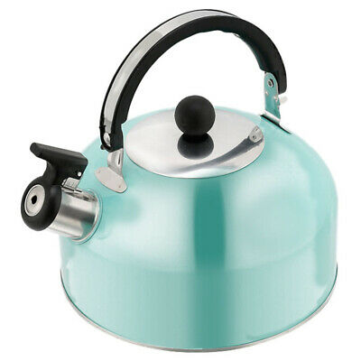 £11.79 • Buy Whistling Kettle 3L Stainless Steel Stove Top Kettle Blue Induction Gas Electric