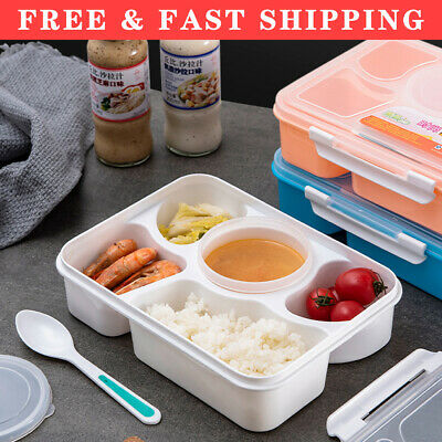 Bento Lunch Box For Kids 5 Compartments Leakproof Food Container Large • 9.81£