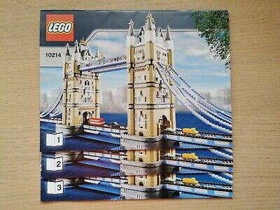 Lego Creator 10214 Tower Bridge - INSTRUCTIONS MANUAL ONLY - Brand New • 9.99£