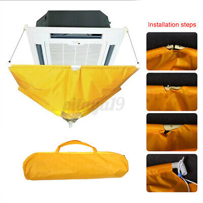 AU47.49 • Buy Washing Cleaning Bag Air Conditioner Polyester Cover Waterproof Dust Protector