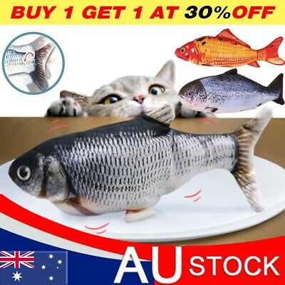 AU10.85 • Buy Electric Dancing Fish Kicker Cat Toy Wagging Realistic Moves USB Rechargeable AU