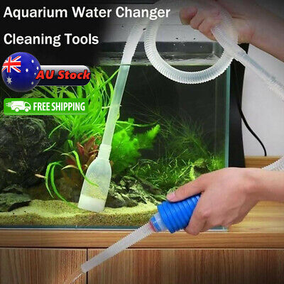 AU9.99 • Buy New Aquarium Fish Tank Cleaner Syphon Vacuum Water Changer Pump Siphon Hose AU
