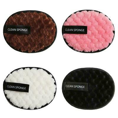 £2.99 • Buy Make Up Remover Pads Microfiber Face Cleaner Puff Face Cleansing Cloth Reusable