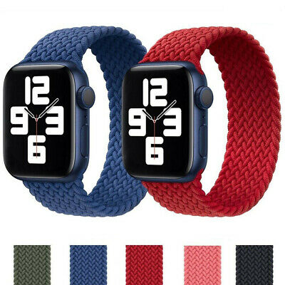 AU9.99 • Buy Braided Solo Loop Strap Band Fits Apple Watch Series 6 SE 5 4 3 2 1 IWatch 38 44