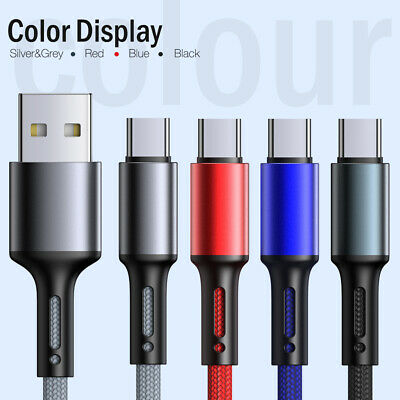 AU9.49 • Buy 1M 3M QC3.0 USB Type C Fast Charging Cable Data Sync Quick Charge Charger Cord