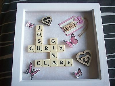 8x8  Personalised Scrabble Word Art Picture Frame -Choose Own Names • 15£