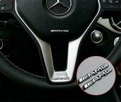 2PC Steering Wheel Badge Logo Emblem Sticker For Mercedes AMG- All Vehicles • 3.99£