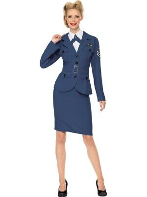 WW2 Air Force Captain Ladies RAF Fancy Dress Small Large Military Wartime Flight • 30£