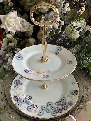 £22 • Buy Royal Albert Alpha Foodie 2-Tier Cake Stand TURQUOISE Brand New Boxed 1st Qlty!