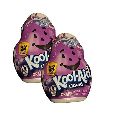 Kool-Aid Liquid Water Flavoring Enhancer Grape 1.62 Oz 0 Calorie Lot Of 2 • 9.95£