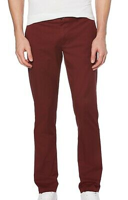 $ CDN37.87 • Buy Penguin Mens Pants Red Size 30X32 Flat Front Slim Fit Chino Stretch $79 #307