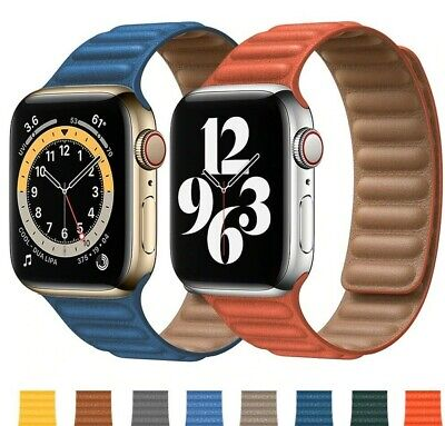 $ CDN17.66 • Buy Genuine Leather Band Strap IWatch Magnetic Breathable For Apple Watch 6 5 4 3 SE