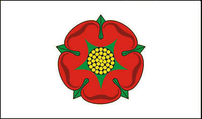 Old Style Lancashire Hand Waving or Table Flag English County