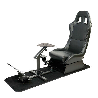 £214.33 • Buy Racing Seat Gaming Chair Simulator Cockpit Steering Wheel Stand F1 Fits Adults +