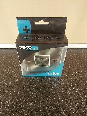 Click Deco Satin Chrome 1 Gang 3 Pole Isolation Switch Brand New DPSC520WH • 8.99£
