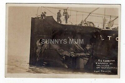 £20 • Buy Sussex, Eastbourne, S.s. Charlton Damaged By Collision, Rp