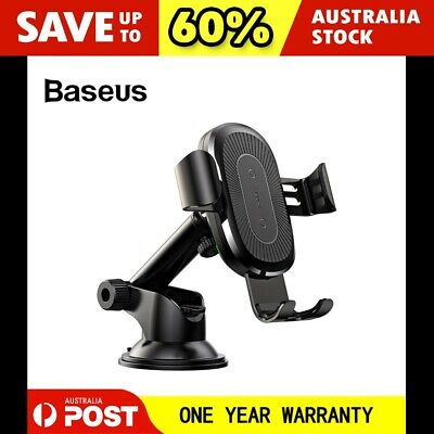 AU29.95 • Buy Baseus Qi Wireless Charger Dashboard Gravity Car Mount Holder For IPhone Samsung