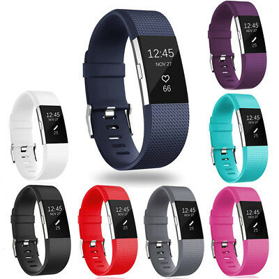 $ CDN4.76 • Buy For Fitbit Charge 2 Watch Band Replacement Silicone Strap Sport WristBand Sales