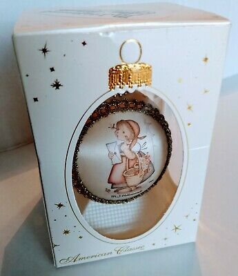 $14.99 • Buy M.J. Hummel Glass Collectible Christmas Ornament 2000  Child With Letter   Krebs
