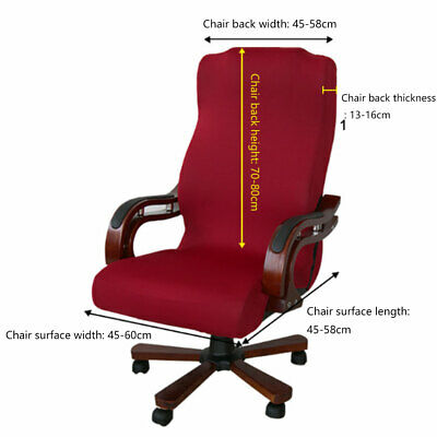 AU27.53 • Buy Office Chair Cover Elastic Stretchable Slipcovers Soft Removable Computer Seat