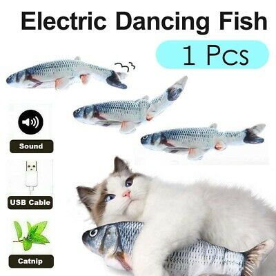 AU10.68 • Buy Rechargeable Electric Dancing Fish Kicker Cat Toy Wagging Realistic Moves USB