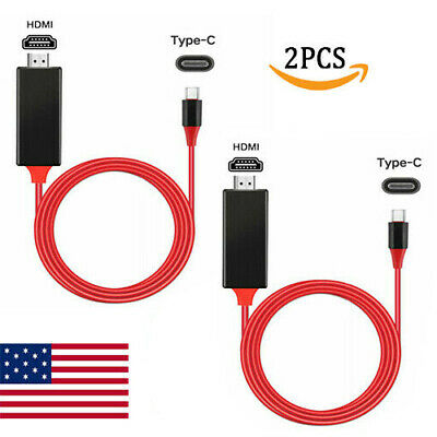$8.65 • Buy 2-Pcs MHL USB Type C To HDMI HDTV TV Cable Adapter Converter For Macbook Android