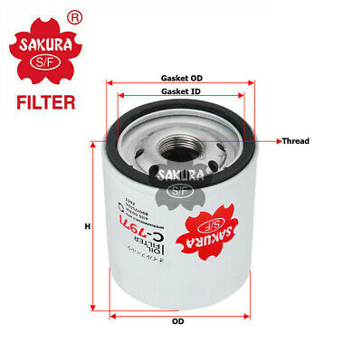 AU16.58 • Buy Sakura Oil Filter 89017524 Z663 (c-7971)