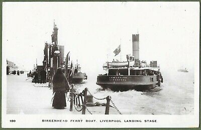 £9 • Buy The Birkenhead Ferry Leaving Liverpool Landing Stage. Real Photo Posted In 1914.