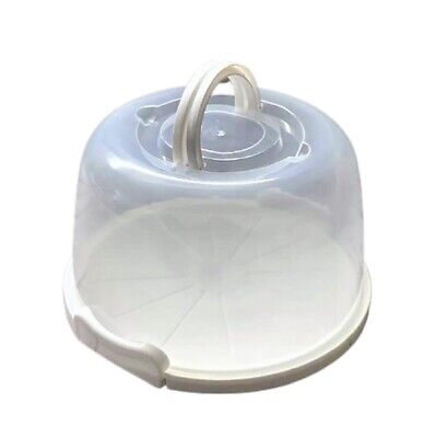 Plastic Cake Box Carrier Cupcake Storage Box Container Clear With Lid Lockable • 9.95£