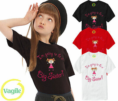 Big Sister T-shirt  I'm Going To Be A Big Sister  Pregnancy Announcement Tshirt • 5.89£