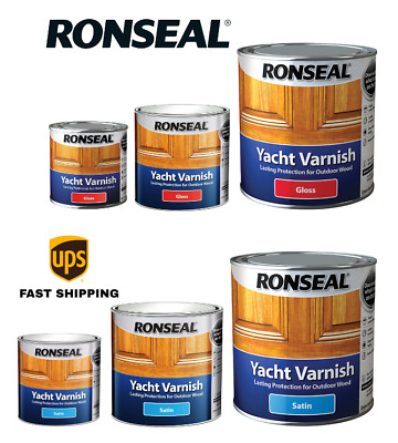 Ronseal Yacht Varnish Satin - Gloss Long Lasting Protection All Sizes • 17.99£