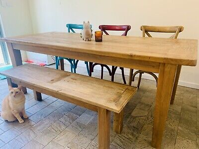 AU449.40 • Buy Farmhouse Dining Table And Matching Bench.