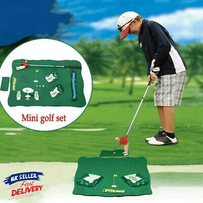 Mini Golf Practice Set Kids Fun Toy Club Ball Indoor Putting Game Golf Games Toy • 19.86£
