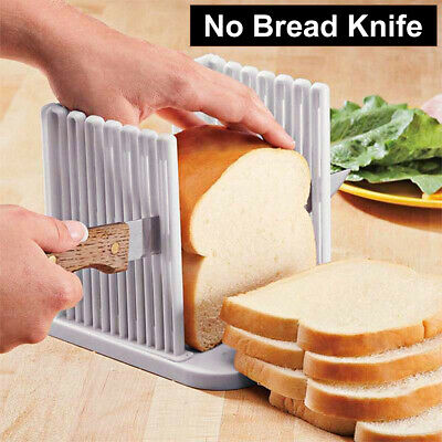 Bread Loaf Toast Sandwich Slicer Cutter Mold Maker Kitchen Guide Slicing Tool • 6.59£