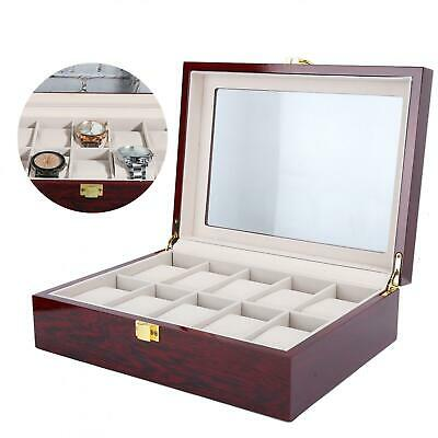 $ CDN42.74 • Buy Luxury Wooden 10 Grids Slots Watch Display Box Wrist Watch Storage Box Holder