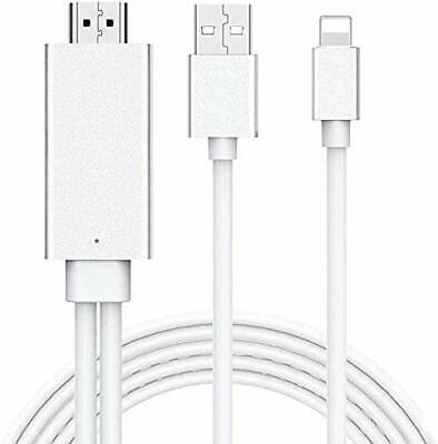 Compatible For IPad IPhone To HDMI Adapter Cable, 6ft HDMI TV Cable, Digital AV • 22.99£