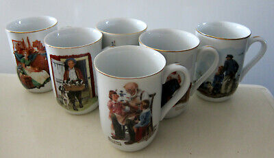 $ CDN18.49 • Buy 6 Norman Rockwell Museum Coffee Mugs Certified Authenntic