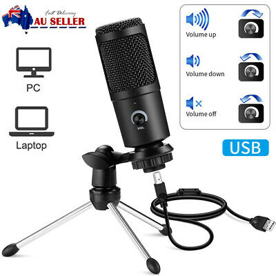 AU29.98 • Buy Professional USB Condenser Podcast Microphone For Gaming Recording Streaming