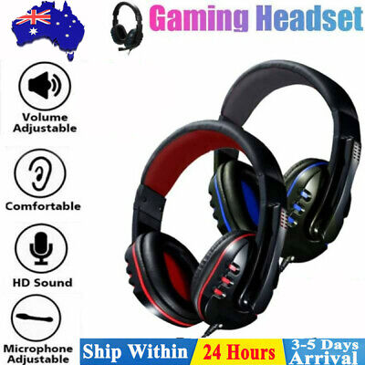 AU14.88 • Buy Durable Stereo Gaming Headset Headphone Wired With Mic For PC Xbox One PS4 AU