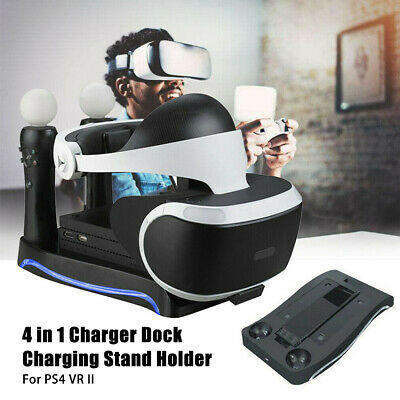 AU38.99 • Buy For PS4 VR II PS Move Game Controller Charging Dock Charger Station Stand Holder