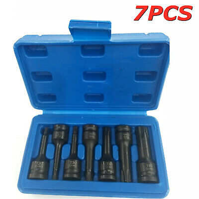 7pc 3/8 Impact Torx Socket Bit Set T20 To T60 Socket Cr-Mo Socket Sets Tools • 10.99£