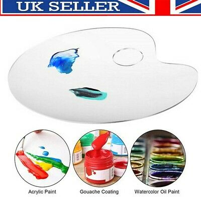 £6.99 • Buy Clear Artist Paint Pallet Painting Tray Palette Color Mixing For Plastic Paints
