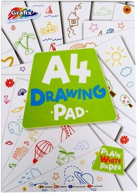 £3.69 • Buy 144 Pages A4 Sketch Drawing Pad White Paper Artist Doodling Book Art Craft Kids