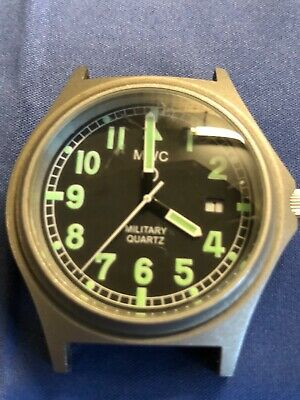 Mwc Titanium Military Watch 40mm Case.Used .SPARES /REPAIR /PARTS.not Working • 60£
