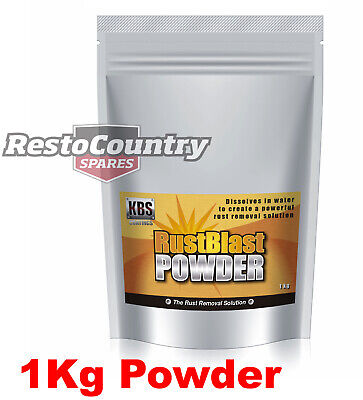 AU63.90 • Buy KBS Rust Blast POWDER 1kg Rust Removal And Corrosion Prevention Clean Rustblast