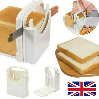 Bread Slicer Toast Cutter Cutting Guide - Foldable Adjustable Sandwich Maker NEW • 7.18£