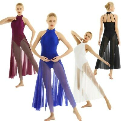 4Color Women Adult Ballet Dress Leotard Gym Contemporary Lyrical Dance Costumes • 23.96£
