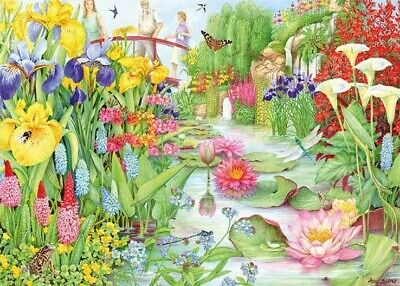 £10.99 • Buy Falcon 1000 Piece Jigsaw Puzzle Deluxe NEW  Flower Show The Water Garden
